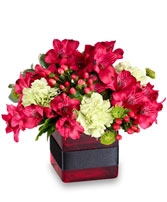 RESPLENDENT RED Floral Arrangment in Milton, MA | MILTON FLOWER SHOP, INC