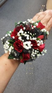 Romantic Red Corsage
