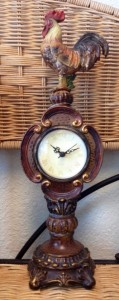 ROOSTER DECOR CLOCK
