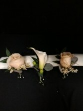 Rose or Calla Lily  Boutonniere