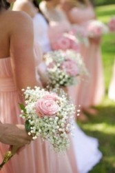 Roses and Babies Breath Wedding Bouquet