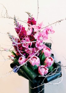 Ruby Tropical Vase Arrangement in Toronto, ON | BOTANY FLORAL STUDIO
