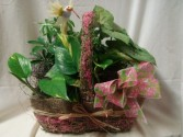 Spring time wicker basket with 2 4