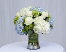 Seabreeze Rose and Hydrangea Mix Vase Arrangement