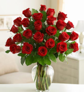 *SHOW HER YOU LOVE HER* 2 Dozen long stem red or colored roses arranged in a vase