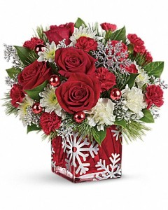 Silver Christmas Bouquet  in Dayton, OH | ED SMITH FLOWERS & GIFTS INC.