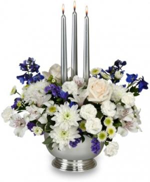 Silver Elegance Centerpiece in Loganville, GA | Flowers From The Heart