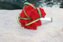 SIMPLY RED ROSES Bridal Bouquet