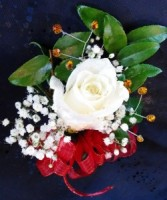 Single Rose with Bling Prom Corsage