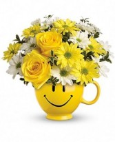 Smiling Daisies Container Arrangement