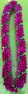 Specialty Spiral purple/green Orchid Lei