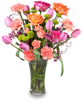 SPRING SOPHISTICATION Flower Arrangement in Plymouth, MA | CAROLE'S FLOWERS AND GIFTS