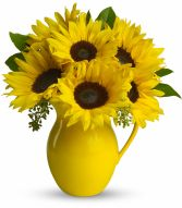 Sunny Day Pitcher of Sunflowers EN-13G
