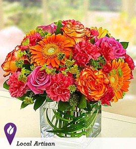Sunset Passion Vibrant Sunset Colors to Brighten Their Day! in Gainesville, FL | PRANGE'S FLORIST