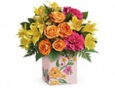T16M400A Painted Blossoms Bouquet Mothers Day