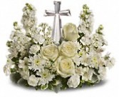 T229-2C Divine Peace Crystal Cross Funeral