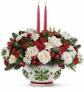 Teleflora Holly Days Holiday Centerpiece