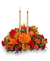 THANKSGIVING UNITY Centerpiece in Manchester, NH | CRYSTAL ORCHID FLORIST