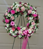 The devoted pink wreath