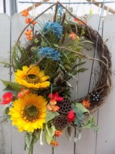 The Fishermans Tribute Grapevine wreath with permanent botanicals