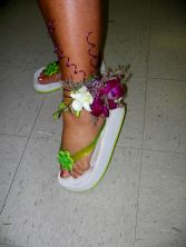 Wedding-The Leg has It Body Corsage Custom Design. Please call for more information