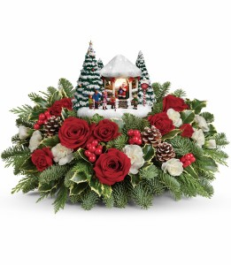 Thomas Kinkade's Jolly Santa Bouquet Teleflora Christmas Bouquet  T16X200A in Indianapolis, IN | SHADELAND FLOWER SHOP