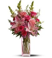 TICKLE ME PINK VASE ARRANGEMENT