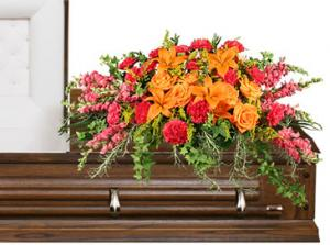 TRIUMPHANT TRIBUTE Casket Spray in Caldwell, ID | BAYBERRIES FLOWERS & GIFT