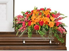 TRIUMPHANT TRIBUTE Casket Spray in Gastonia, NC | POOLE'S FLORIST