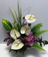 Tropical pink & white Tropical arrangement