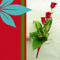 Tropical Rose Hand Tie Combination Rose