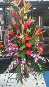 Tropical Serenity  Funeral Spray