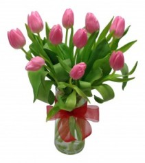 Thoughtful Tulips Vase Arrangement