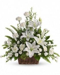 White Peaceful Basket