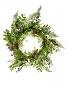 Wildflowers and Ferns Wreath