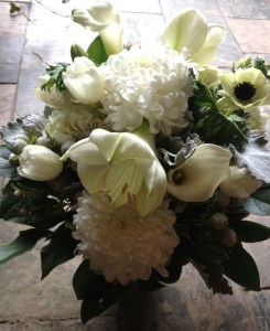 Winter Monochromatic  Vase Arrangement