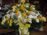 Yellow and White (TB40) Funeral Basket