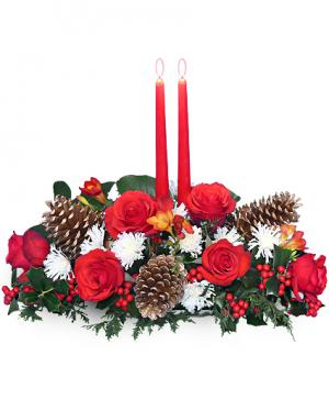 YULETIDE GLOW Centerpiece in Buda, TX | BUDAFUL FLOWERS