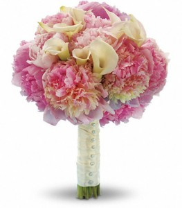 wedding flowers indianapolis peonies and calla lilies wedding bouquet in indianapolis 9597