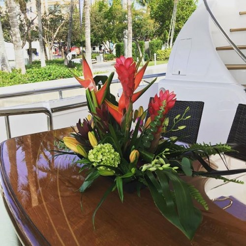 Local Florist Yacht Flowers Fort Lauderdale Tropical Boat Show Flowers